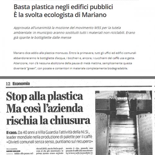Plastica. Evelina Milani della Ni.Si. risponde alla Provincia di Como