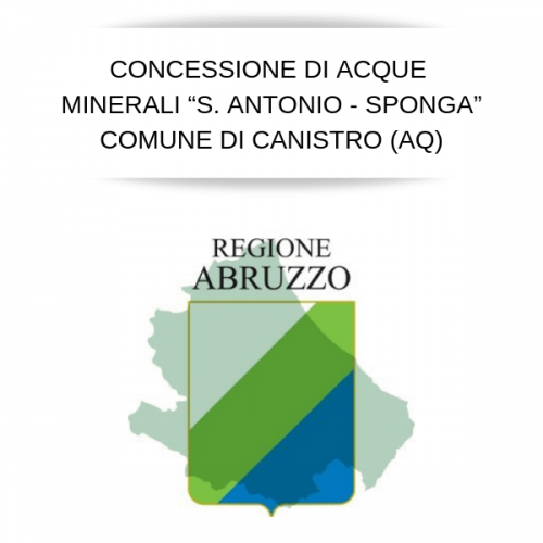 Al via il bando per la concessione delle acqua minerali di Canistro (AQ)
