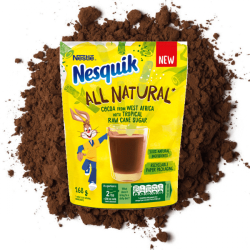 Nesquik si rinnova: ora è All Natural e in packaging riciclabile