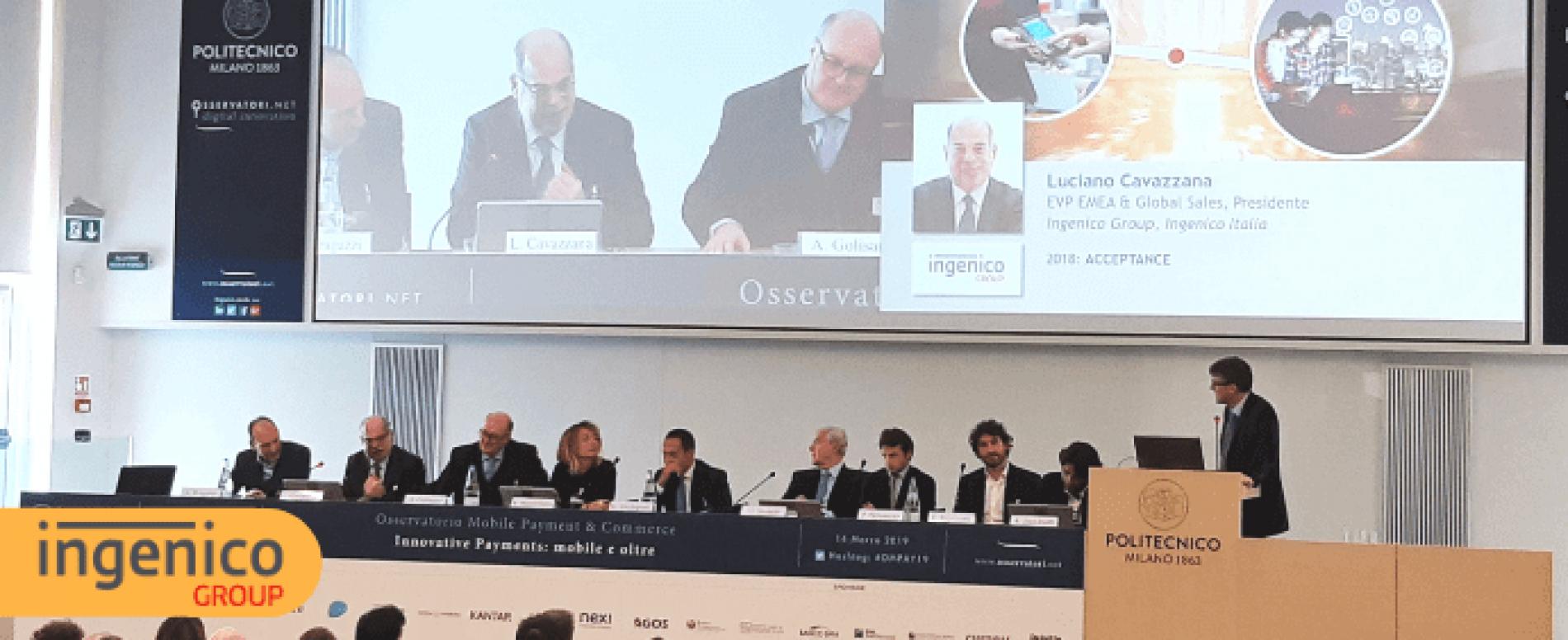 Ingenico Italia a OMPAY19: l'intervento del presidente Luciano Cavazzana