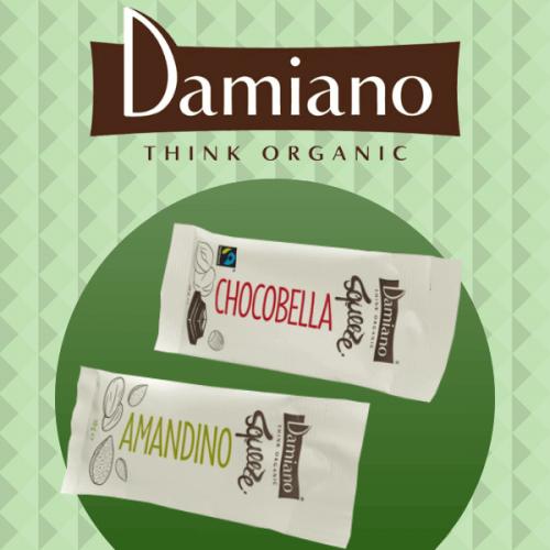 Damiano presenta il formato ready to go di Chocobella e Amandino