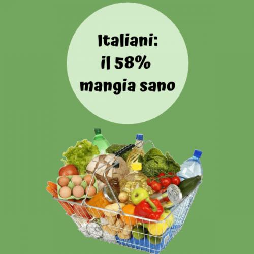Ricerca Ixè: più del 58% degli italiani dice di mangiare sano