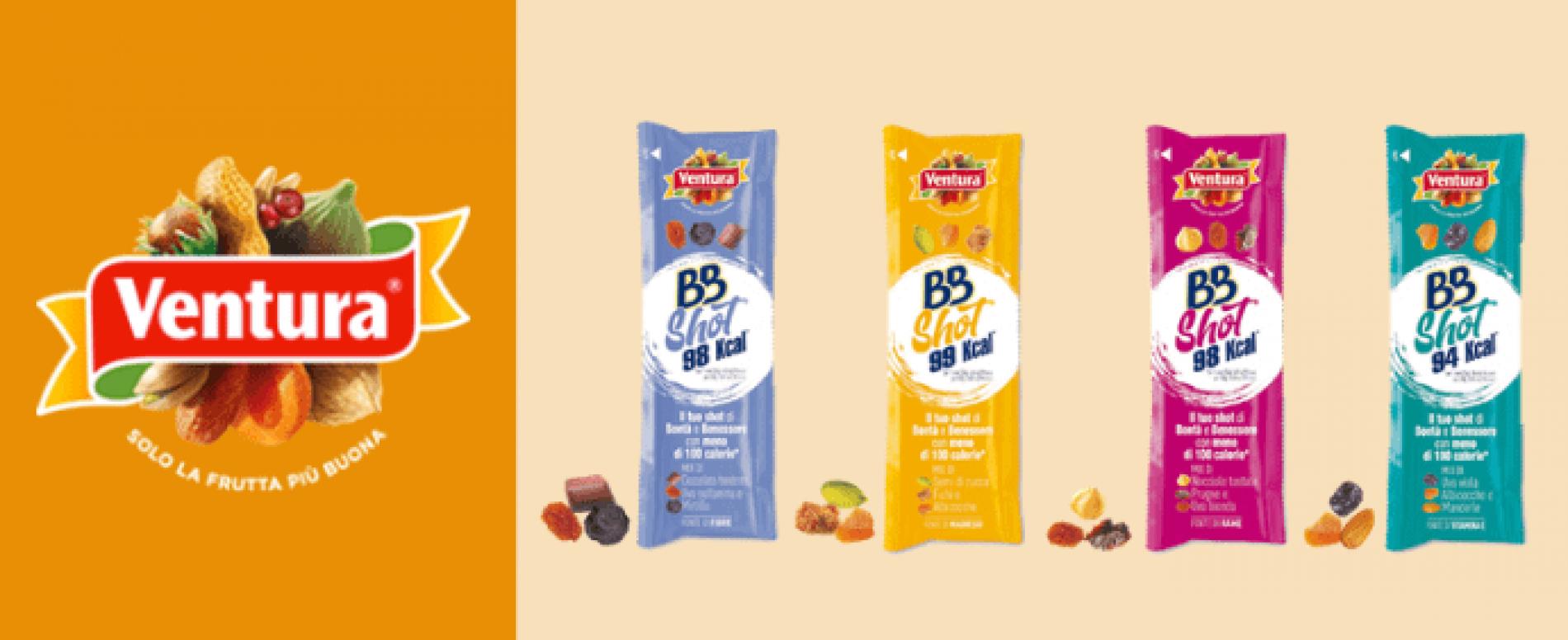 Ventura lancia BBSHOT, la rivoluzionaria linea di snack a base frutta secca
