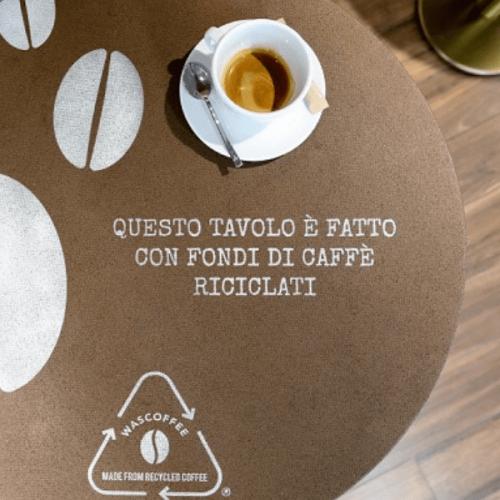 WASCOFFEE di Autogrill: gli arredi fatti coi fondi del caffè