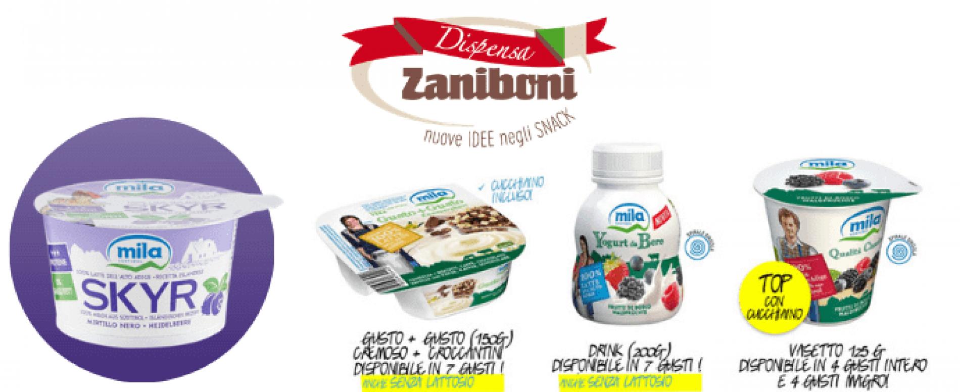 Mila e Dispensa Zaniboni: dopo lo yogurt presentano SKYR