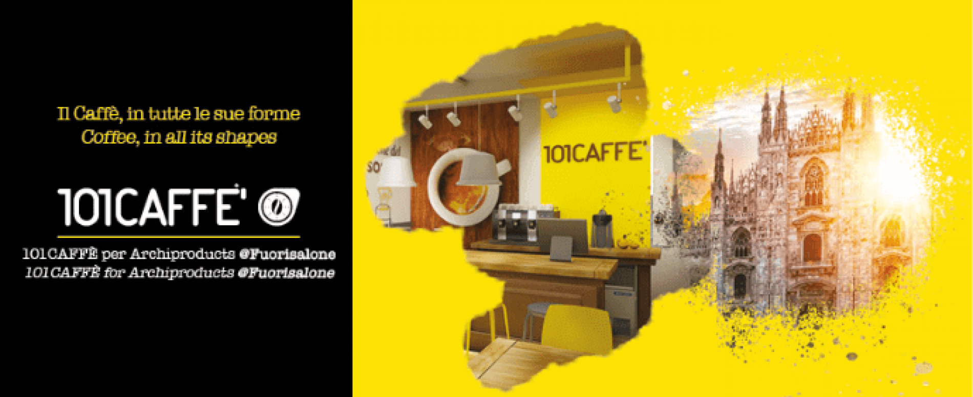 101CAFFÈ al Fuorisalone 2019 porta l'eccellenza italiana del caffè
