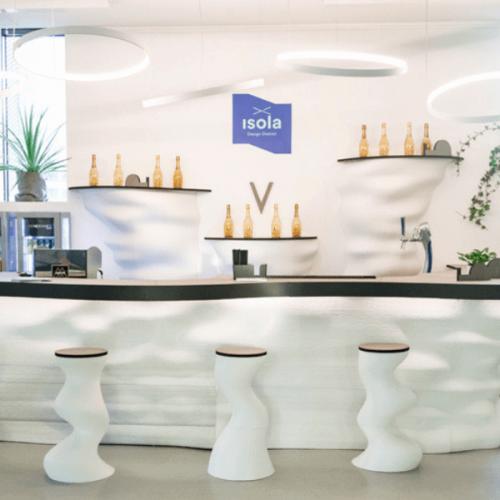 "FLO spa alla Design Week partecipa al progetto del ""3D Bar"""