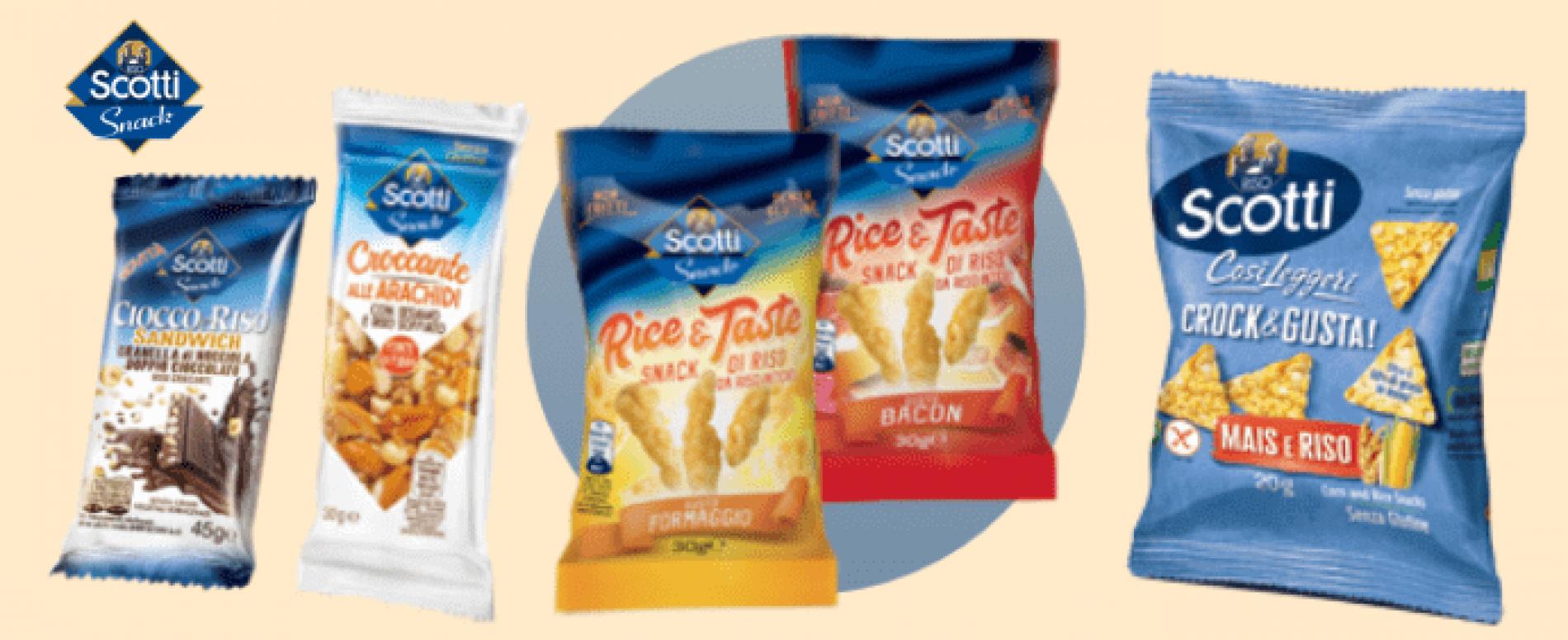 Le ultime novità di Riso Scotti Snack per il canale Vending