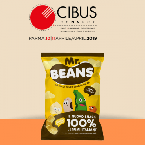 A Cibus Connect Mr Beans, lo snack 100% legumi italiani