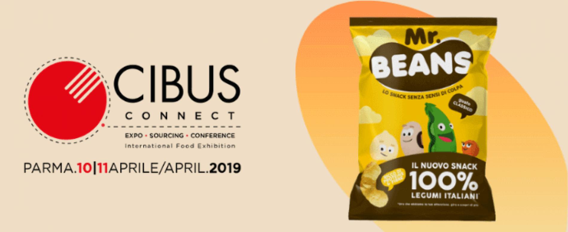 A Cibus Connect Mr Beans, lo snack 100% legumi italiani