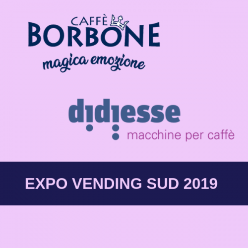 Caffè Borbone e Didiesse insieme a Expo Vending Sud 2019