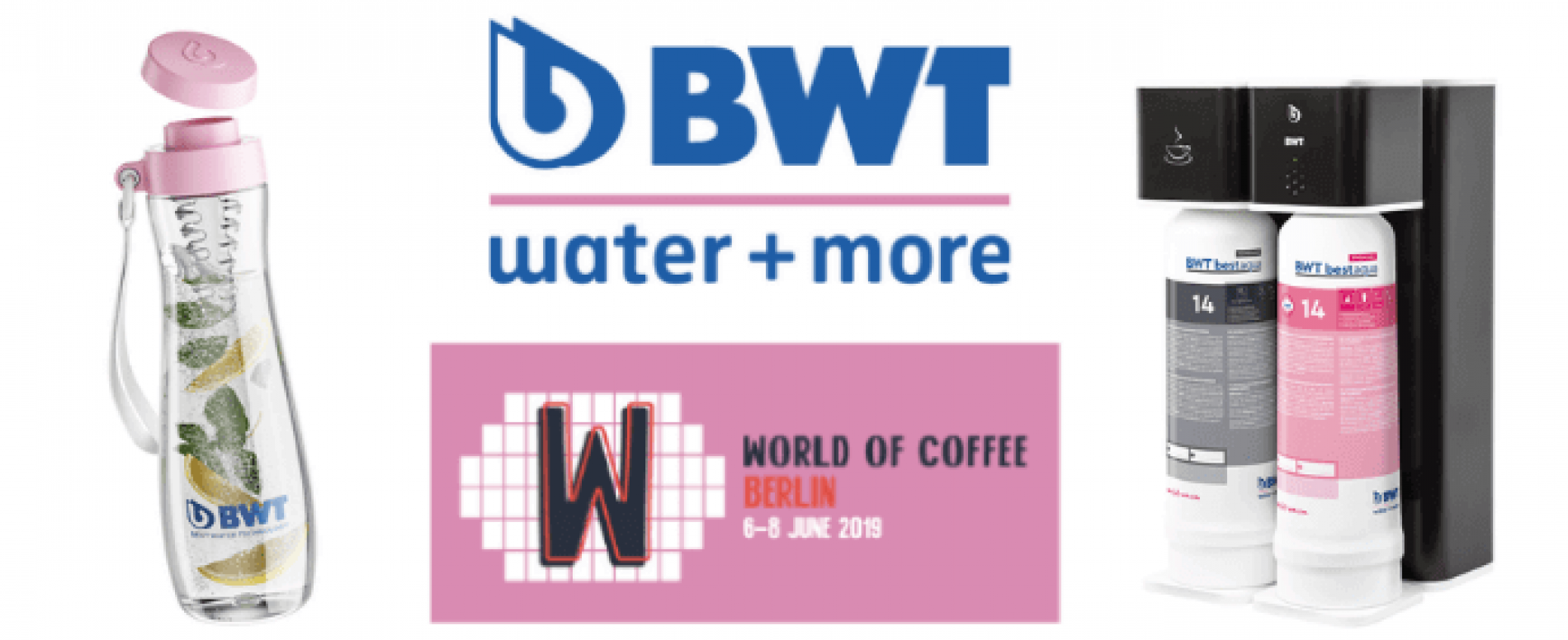 BWT water+more Event Host Sponsor a World of Coffee 2019