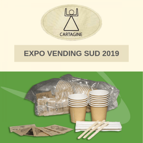 A Expo Vending Sud 2019 l'eco kit accessori di Cartagine