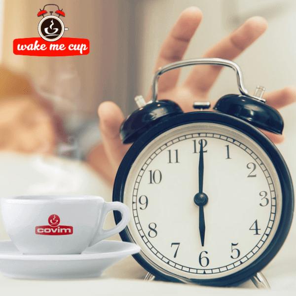 Wake me Cup. Con Covim un anno di caffè gratis