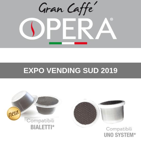 """Gran Caffè Opera a Expo Vending Sud con """"speciali"""" novità"""