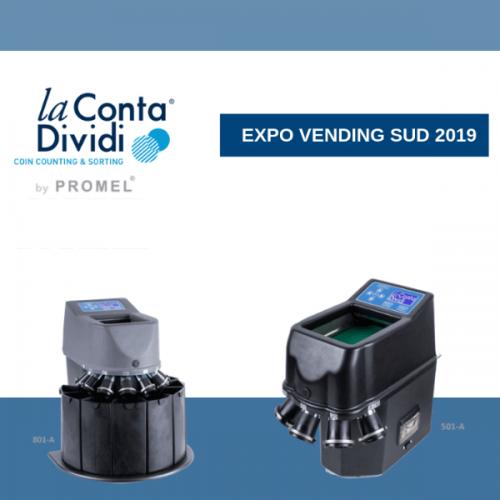 Promel a Expo Vending Sud 2019 con le sue la Conta Dividi