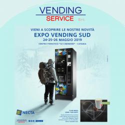 Vending Service a Expo Vending Sud con un ampio range di brand
