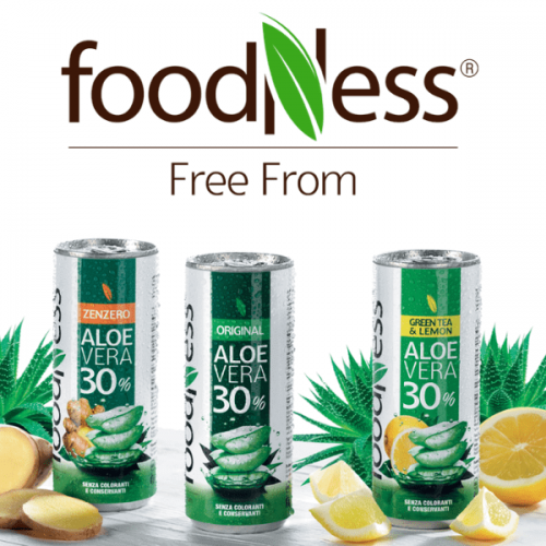"Foodness lancia l'aloe vera ""free from"" in lattina"