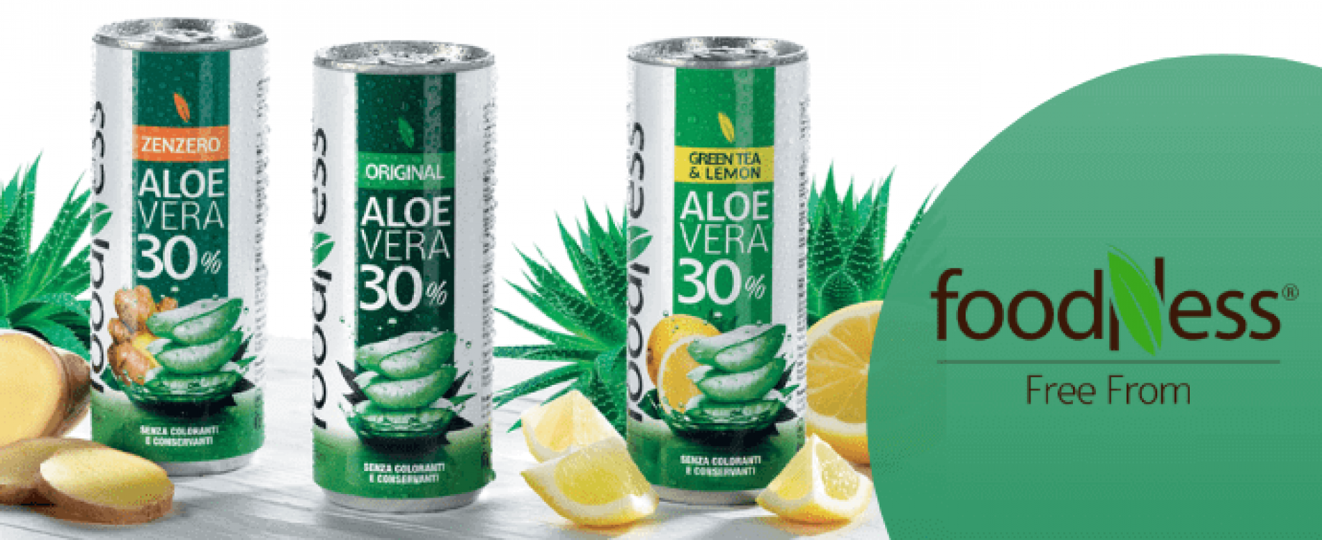 "Foodness lancia l'aloe vera ""free from"" in lattina"