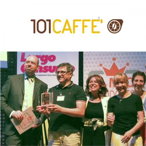 """Premio """"Il Mio Prodotto del Cuore 2019-2020"""" a 101CAFFE'"""