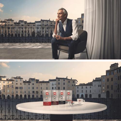 Le capsule compatibili Nespresso di illy in comunicazione con Andrea Bocelli