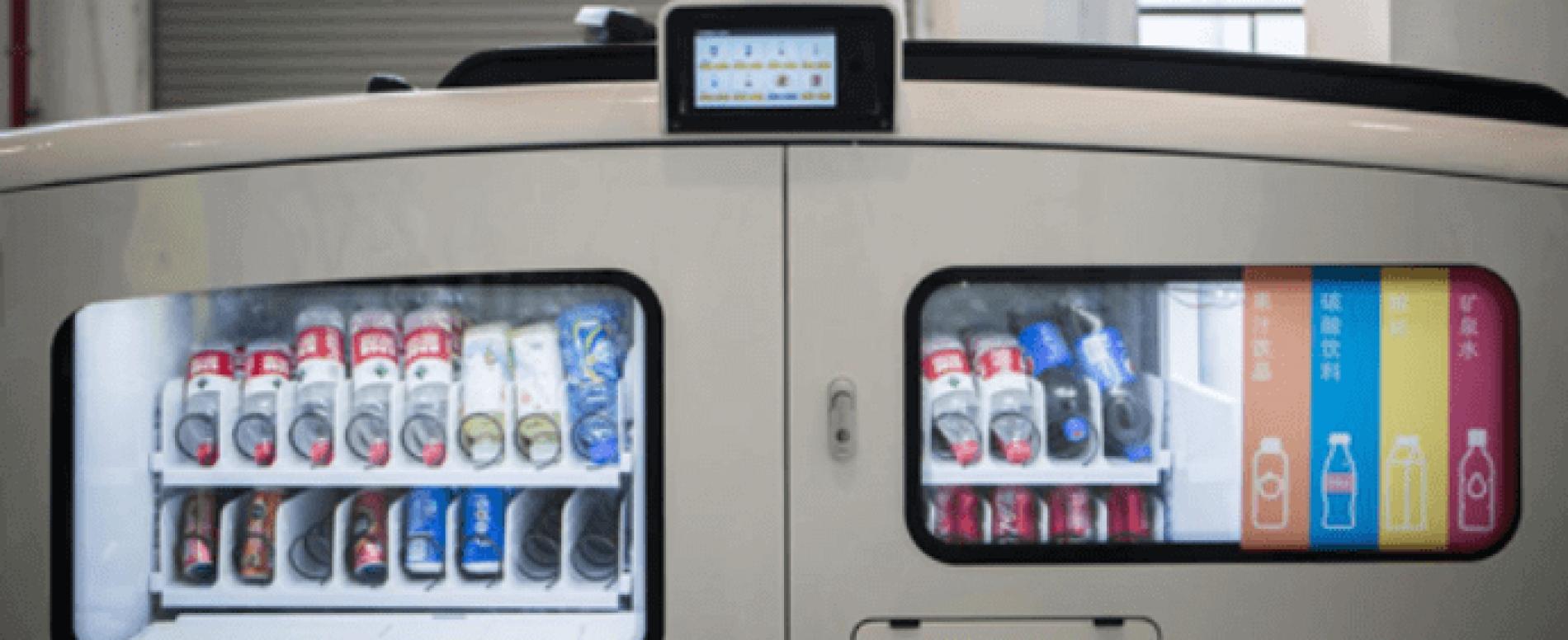 Dalla Cina un van a guida autonoma che è anche una vending machine