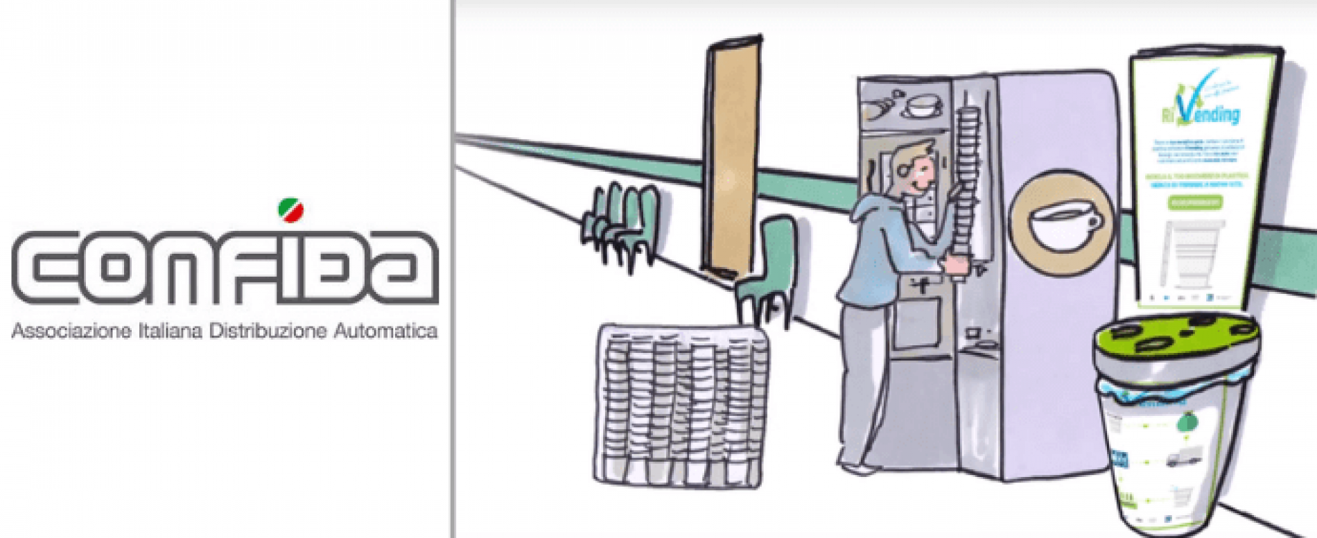Un corto animato promuove il progetto RiVending di CONFIDA
