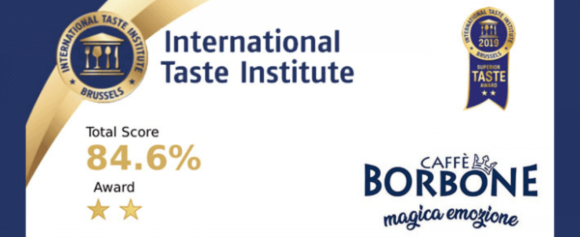 L' International Taste Institute premia A Modo Mio di Caffè Borbone