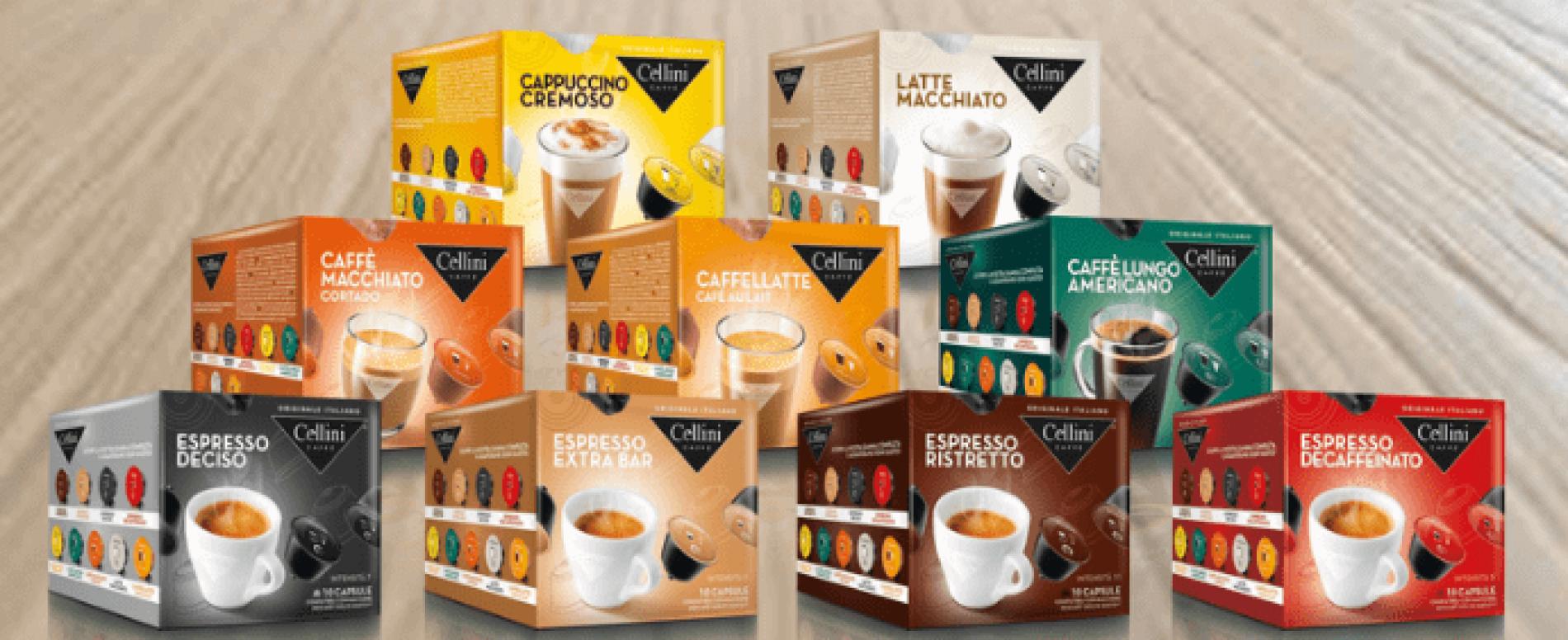 Il caffè di Cellini sceglie i packaging di Senzani per le sue capsule