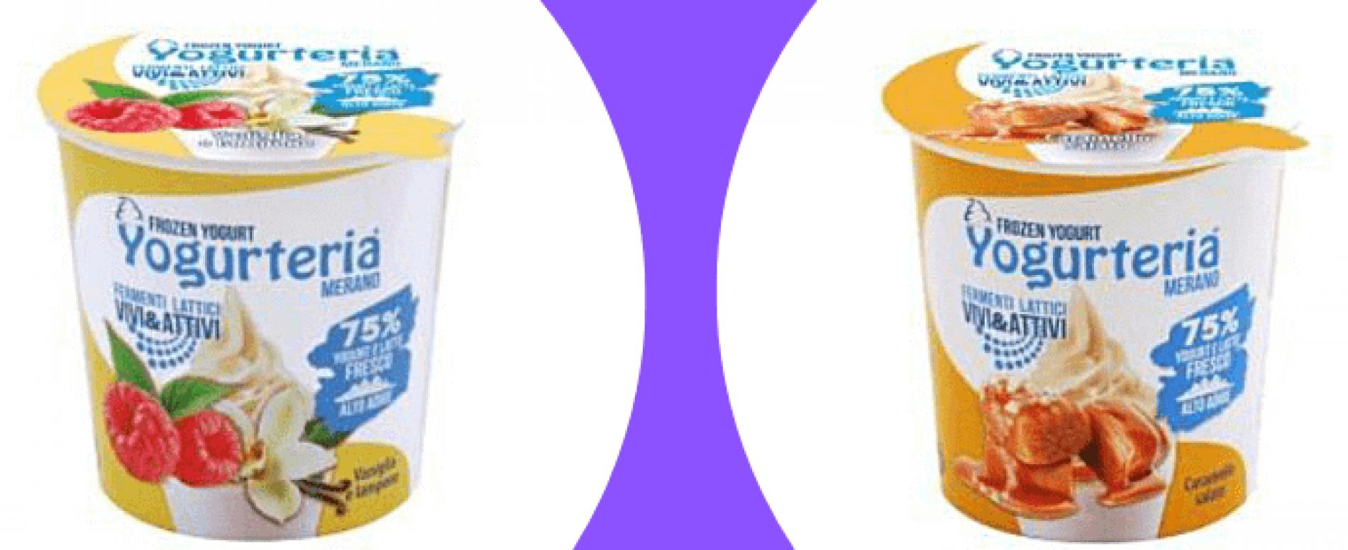 Nuovi gusti e nuova grafica per Frozen Yogurt di Latteria Merano