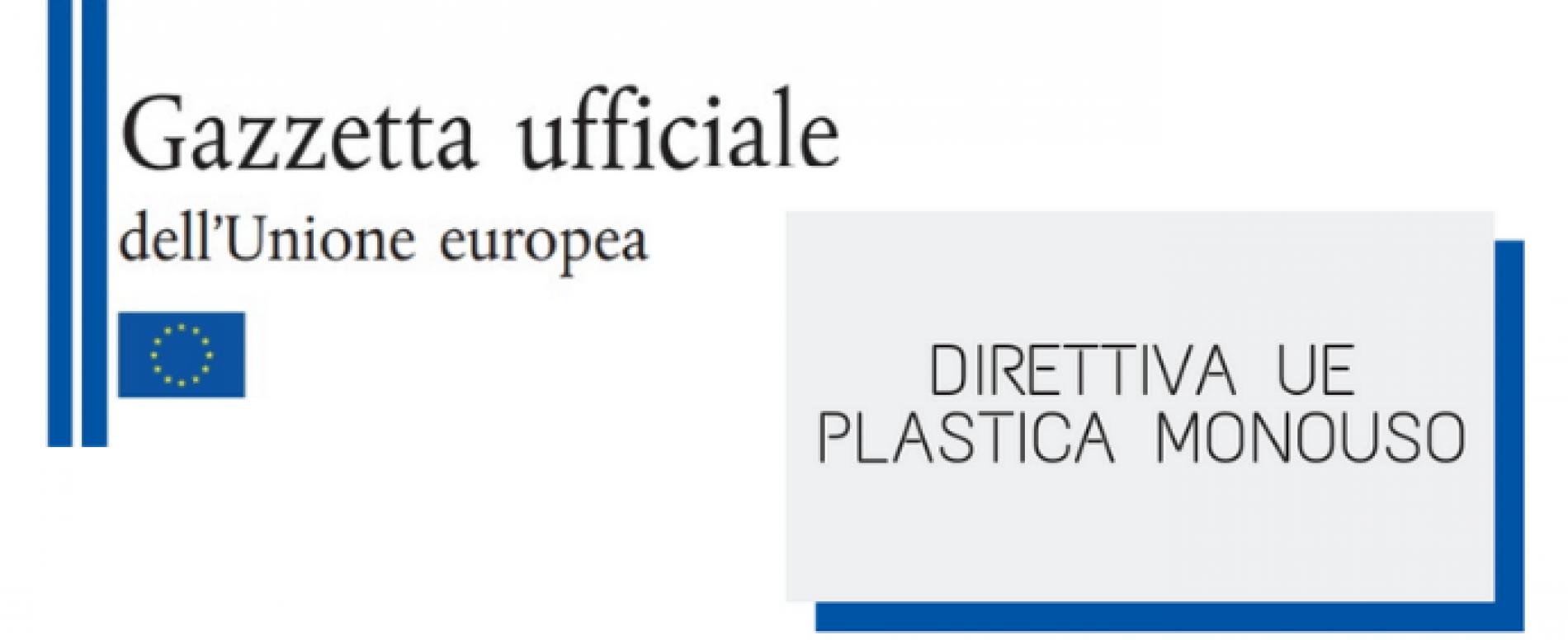 Pubblicata in Gazzetta Ufficiale UE la Direttiva sul monouso