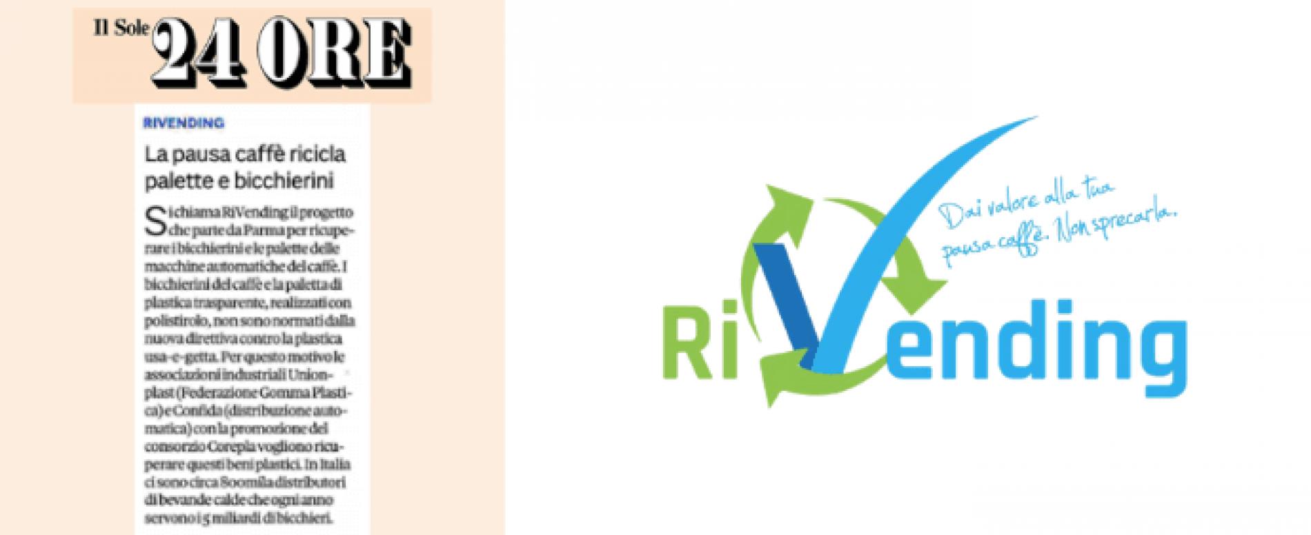Il progetto RiVending per il riciclo del monouso  scelto da Il Sole 24 Ore