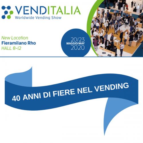 40 anni di fiere nel Vending: on air la nuova immagine di VENDITALIA