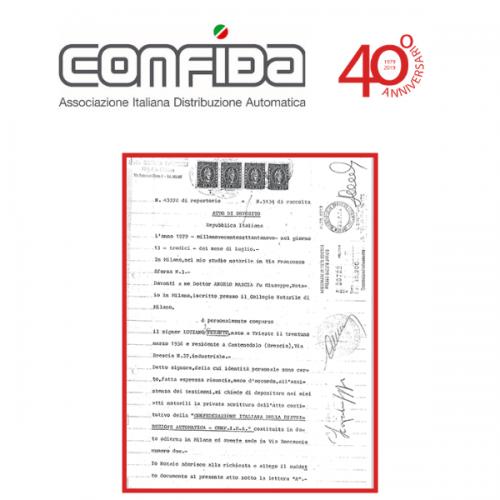 13 luglio 2019. CONFIDA: 40 anni di Vending