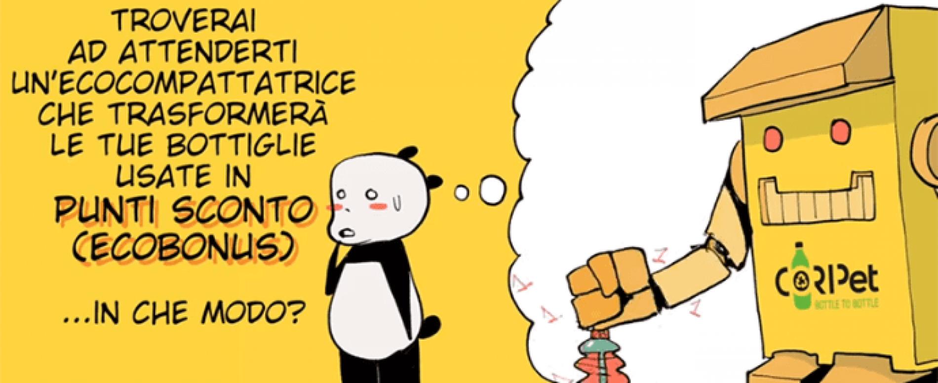 +RICICLI +VIAGGI. La Metro di Roma sperimenta gli ecocompattatori