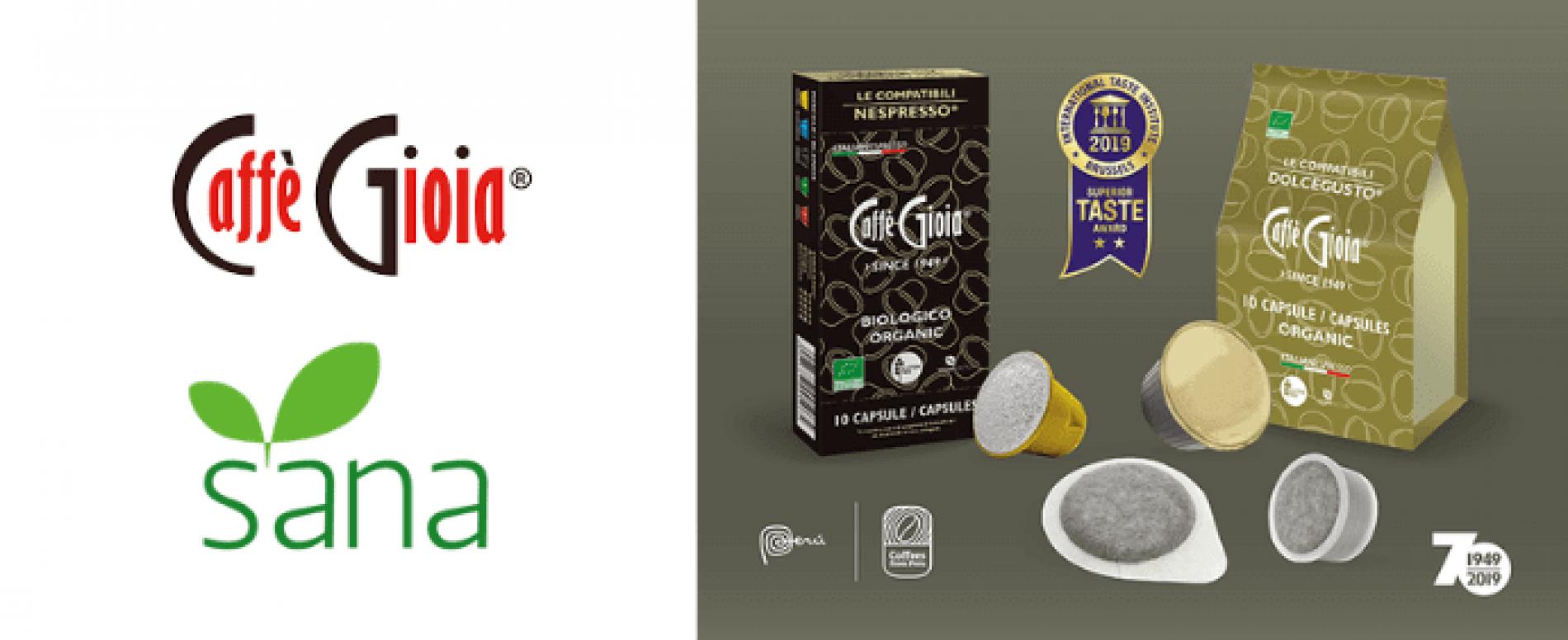 Caffè Gioia al SANA 2019 con la sua gamma di caffè Organic