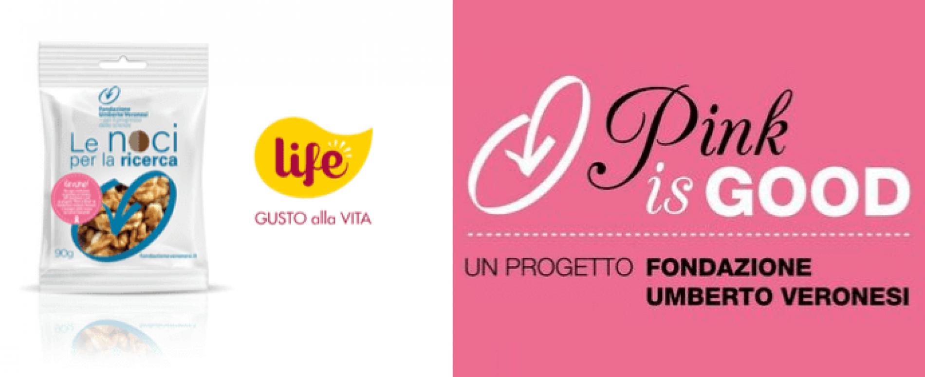 """LIFE torna a sostenere """"Pink is Good"""" della Fondazione Veronesi"""