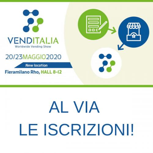 Al via le iscrizioni a Venditalia 2020, la fiera leader del Vending
