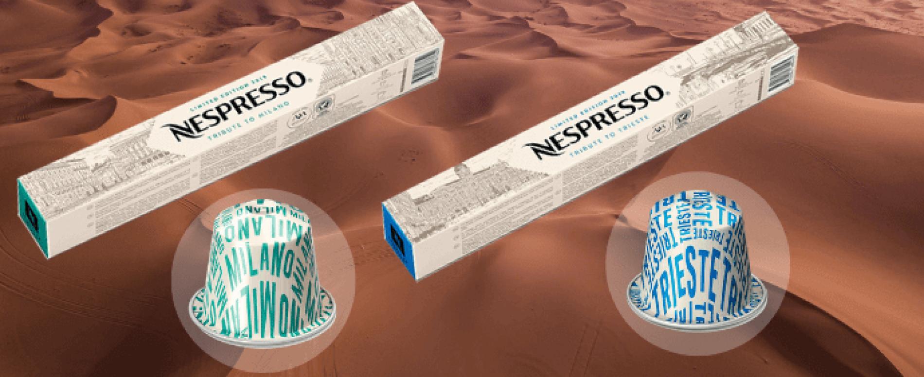Nespresso ripropone la limited edition diTributo a Trieste e Tributo a Milano