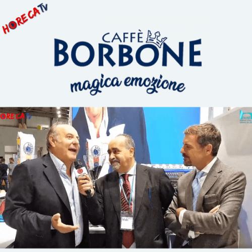 HorecaTv.it. Intervista a Host 2019 con Gerry Scotti e Massimo Renda di Caffè Borbone srl