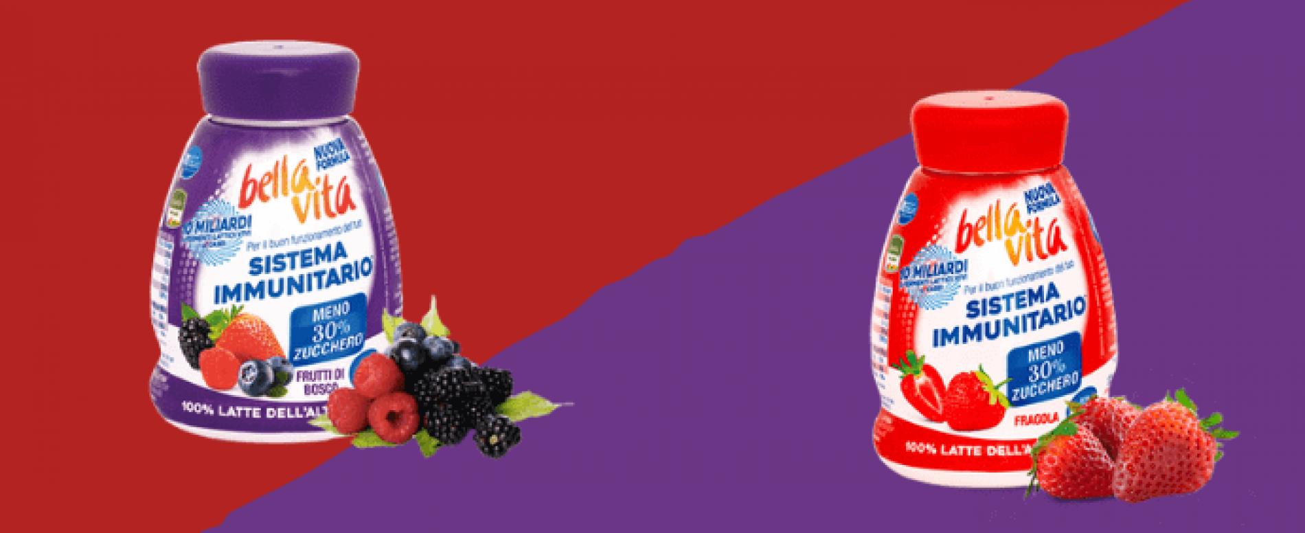 Da Latteria Merano lo yogurt da bere probiotico Bella Vita