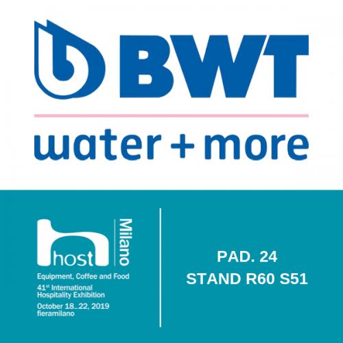 BWT water+more. A HOST le più innovative tecnologie per la filtrazione dell'acqua