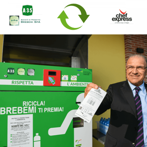 A35 Brebemi e Chef Express adottano il reverse vending