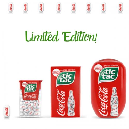 Arrivano in tutto il mondo i Tic-Tac al gusto Coca-Cola