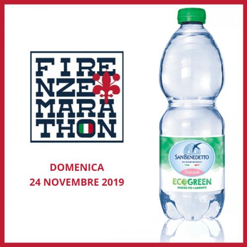Acqua Minerale San Benedetto è l'acqua ufficiale della Firenze Marathon