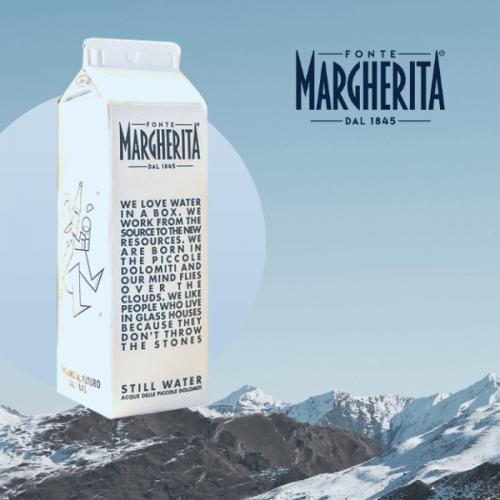 Arriva nel Vending l'acqua Fonte Margherita in cartone riciclabile