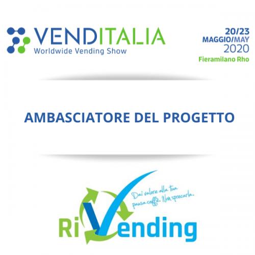 Venditalia sarà ambasciatore del progetto RiVending nella D.A.