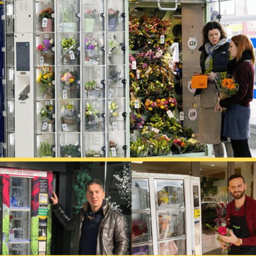 A Catania il distributore automatico di fiori. Ma non è il primo in Italia