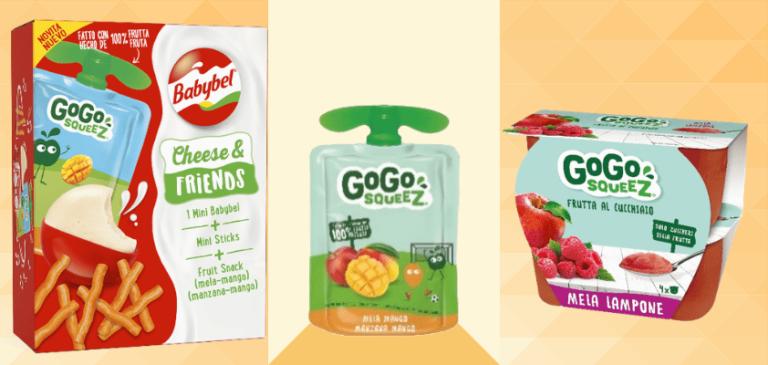 Il gruppo Bel lancia in Italia GoGo squeez, lo snack a base di frutta
