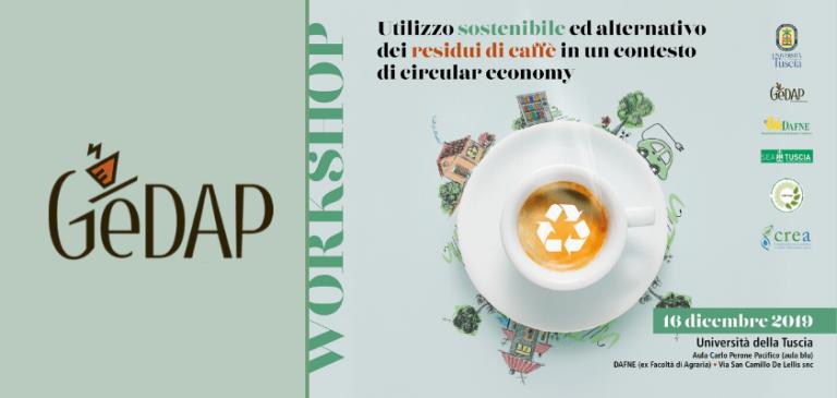 Progetto Gedap 4.0 per l'utilizzo sostenibile dei residui di caffè dei distributori automatici